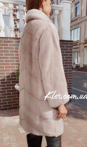 красивая норковая шуба розовом оттенке