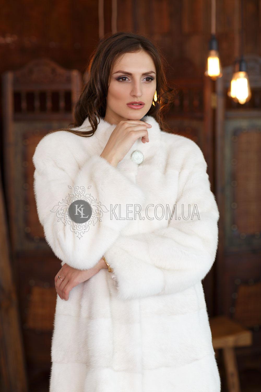 6c503e1a5798 Белая норковая шуба 80см   Шубы цены и фото. Купить шубу в Киеве