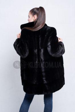 купить черную норковую шубу из канадской норки