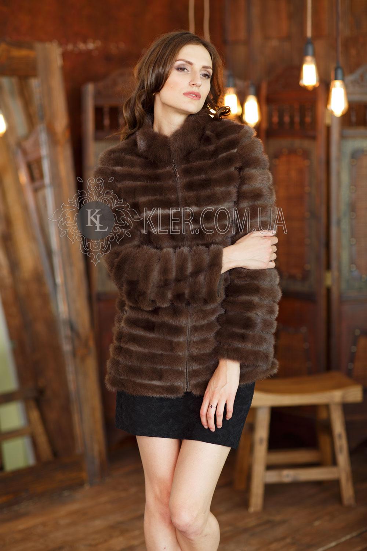 23d20473445 меховое пальто из норки коричневое соболь пальто из норки ...