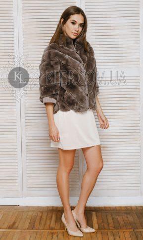 короткая меховая куртка из кролика бобрика купить