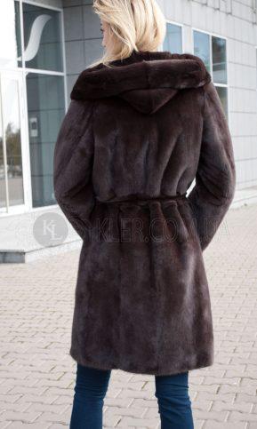 норковая шуба из канадской норки халат