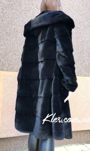 черная норковая шуба blacknafa