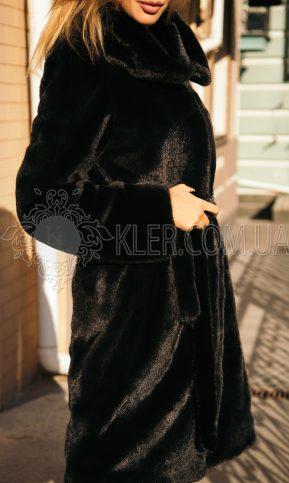 Норковая шуба классика в черном цвете