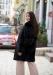 купить черная норковая шуба френч пальто