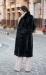 длинная черная норковая шуба под пояс купить киев