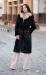 длинная норковая шуба черная халат с соболем куницей купить