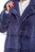 итальянская норковая шуба синяя
