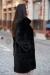 черная норковая шуба поперечка италия купить