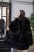черная норковая шуба с английским воротом соболя