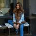 женская джинсовая куртка с мехом песца