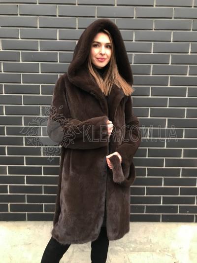 купить шубу халат из канадской норки в киеве