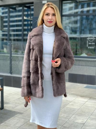 купить норковый пиджак полушубок светло коричневый