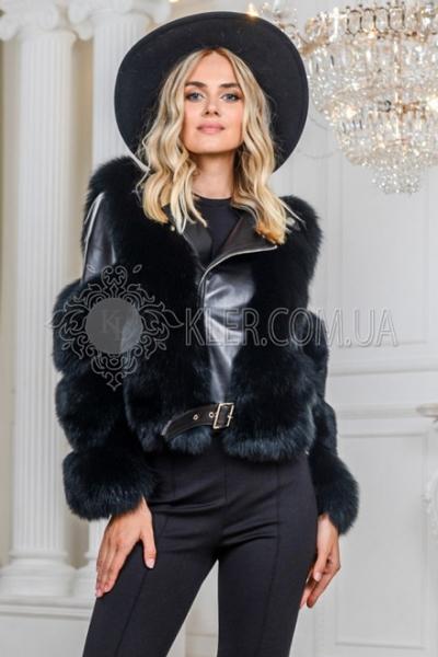 зимняя куртка с черным песцом