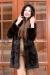 коричневая норковая шуба поперечка с капюшоном